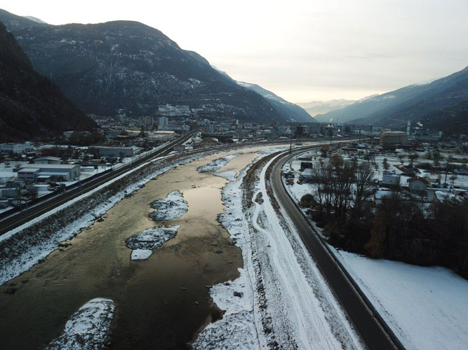 Réaménagement des rives du Rhône